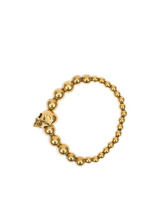 Alexander McQueen - Metallic 'skull' Bracelet - Lyst