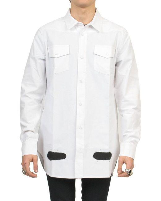 off white c o virgil abloh 39 spray paint 39 shirt in white for men lyst. Black Bedroom Furniture Sets. Home Design Ideas