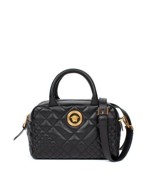 Versace - Black Quilted Satchel Bag - Lyst ... 5af9ca5e11aca