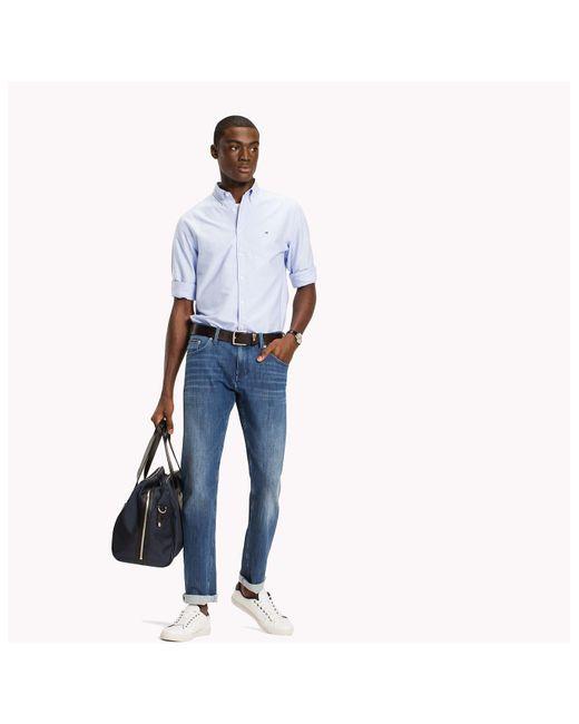 Tommy Hilfiger - Blue Diamond Dobby Shirt for Men - Lyst