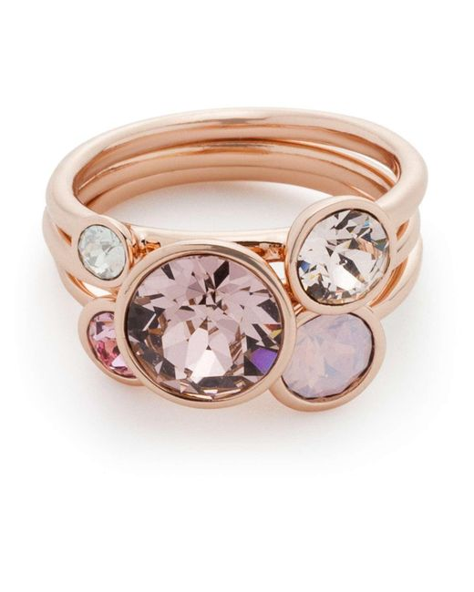 Ted Baker | Pink Jackie: Jewel Stack Ring (m/l) | Lyst
