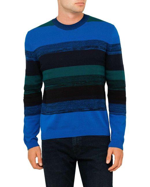 Paul Smith | Blue Stripe Knitwear for Men | Lyst