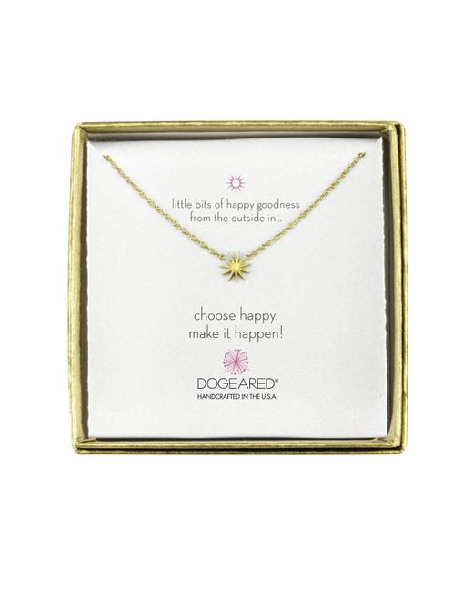 Dogeared   Metallic Mini Starburst Little Bits Of Happy Boxed Reminder Necklace   Lyst