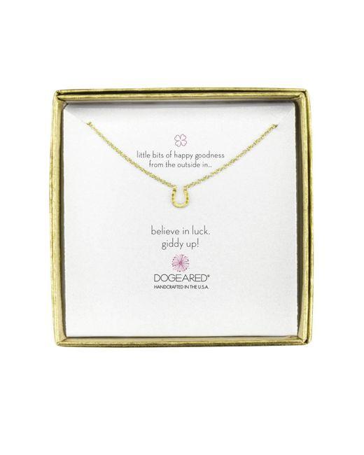 Dogeared | Metallic Mini Horseshoe Little Bits Of Happy Boxed Reminder Necklace | Lyst