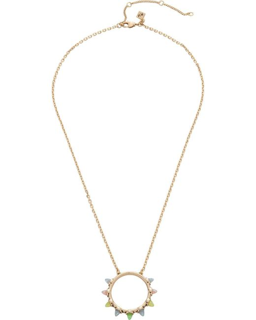 Rebecca Minkoff | Metallic Rainbow Spear Pendant | Lyst