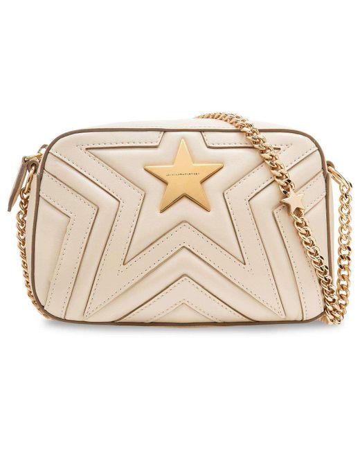 Stella McCartney | Natural Small Chain Quilt Star Bag | Lyst