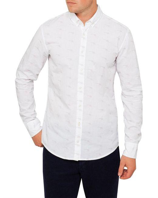 BOSS by Hugo Boss - White Epreppy_1 Fil Coupe Shirt for Men - Lyst