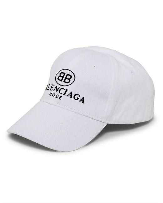 b1655f83eb8 Balenciaga Embroidered Bb Mode Cap in White - Save 10% - Lyst