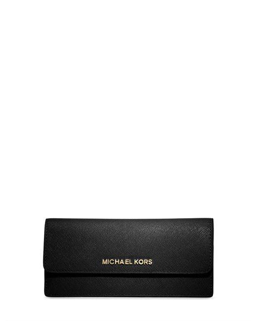 Michael Kors - Black Jet Set Travel Slim Saffiano Wallet - Lyst