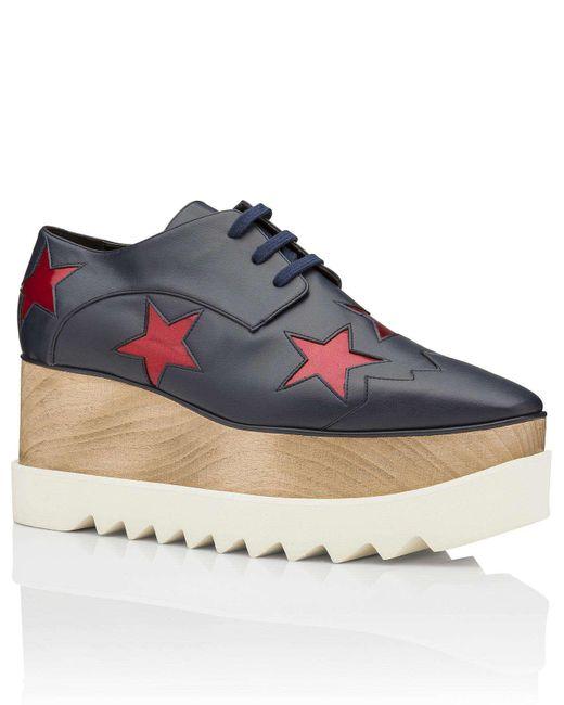 Stella McCartney | Blue 363998 Woygp Elyse Platform Stars | Lyst