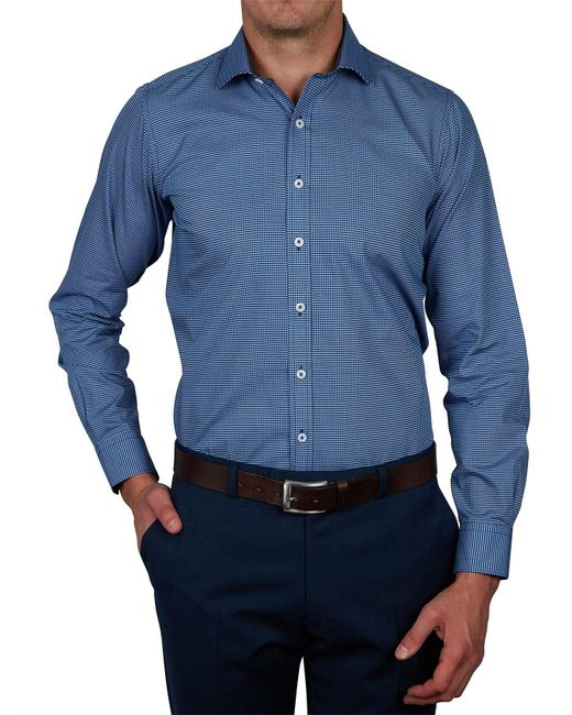 Geoffrey Beene - Blue Stizmark Print Slim Fit Shirt for Men - Lyst
