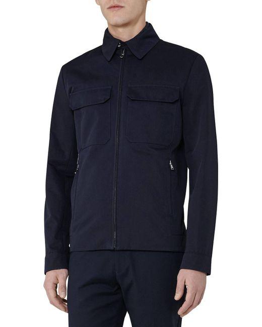 Reiss | Blue Casablanca Cotton Pocket Jacket for Men | Lyst