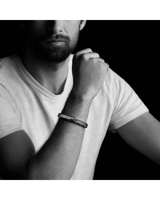 David Yurman | Black Forged Carbon Id Bracelet for Men | Lyst