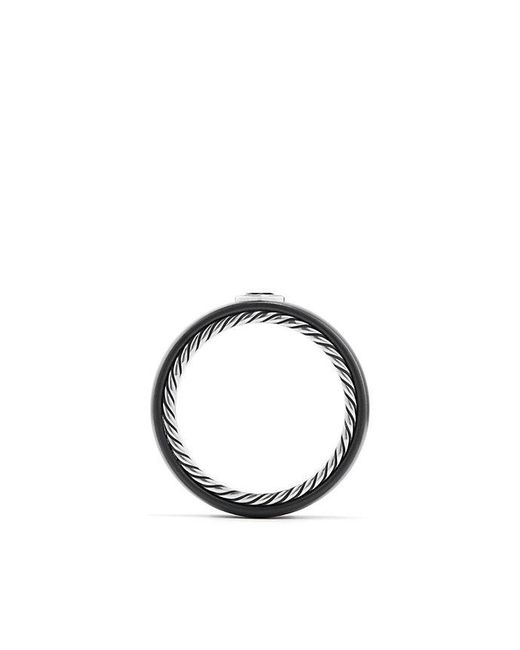 David Yurman - Streamline Band Ring With Black Diamond, 8mm for Men - Lyst