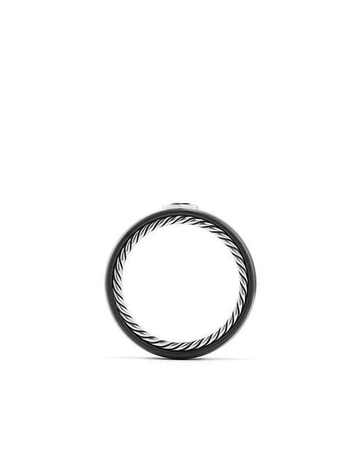 David Yurman | Streamline Band Ring With Black Diamond, 8mm for Men | Lyst