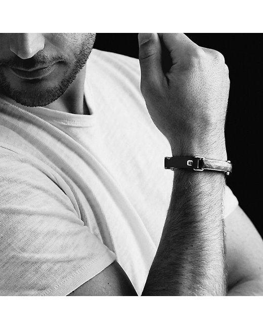 David Yurman | Meteorite Leather Id Bracelet In Black for Men | Lyst
