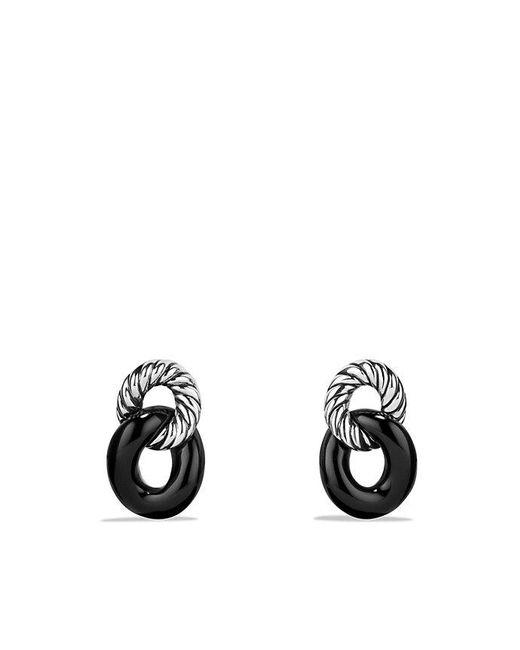 David Yurman - Metallic Belmont Curb Link Drop Earrings With Black Onyx - Lyst