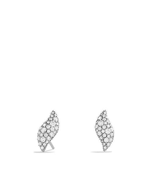 David Yurman | Metallic Hampton Cable® Earrings With Diamonds | Lyst