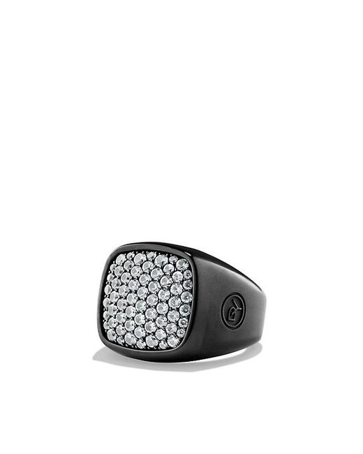 David Yurman | Pave Ring With Gray Sapphire And Black Titanium for Men | Lyst