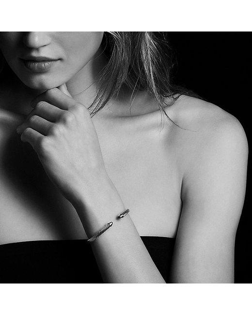 David Yurman - Metallic Cable Classics® Bracelet With Amethyst And 14k Gold, 5mm - Lyst