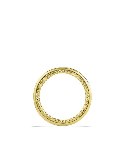 David Yurman | Metallic Cable Inside Band Ring In 18k Gold | Lyst