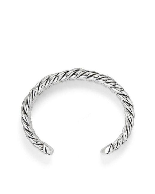 David Yurman - Metallic Wellesley Linktm Three-row Cuff With Diamonds - Lyst