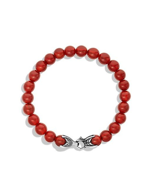 David Yurman | Metallic Spiritual Beads Bracelet With Carnelian, 8mm for Men | Lyst