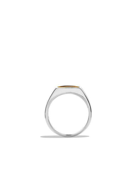 David Yurman - Brown Exotic Stone Signet Ring With Tiger's Eye for Men - Lyst