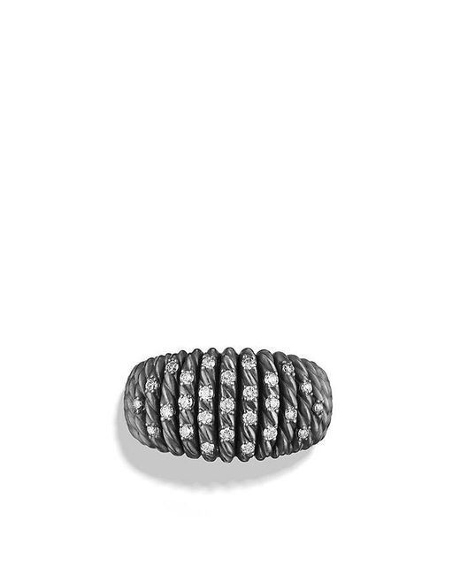 David Yurman | Metallic Tempo Ring With Diamonds | Lyst