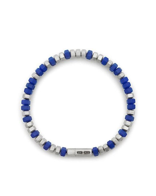 David Yurman | Blue Hex Sterling Silver Beaded Bracelet | Lyst
