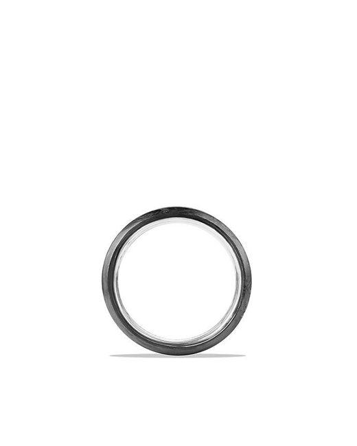 David Yurman | Metallic Streamline Beveled Edge Band Ring With Forged Carbon, 8.5mm | Lyst