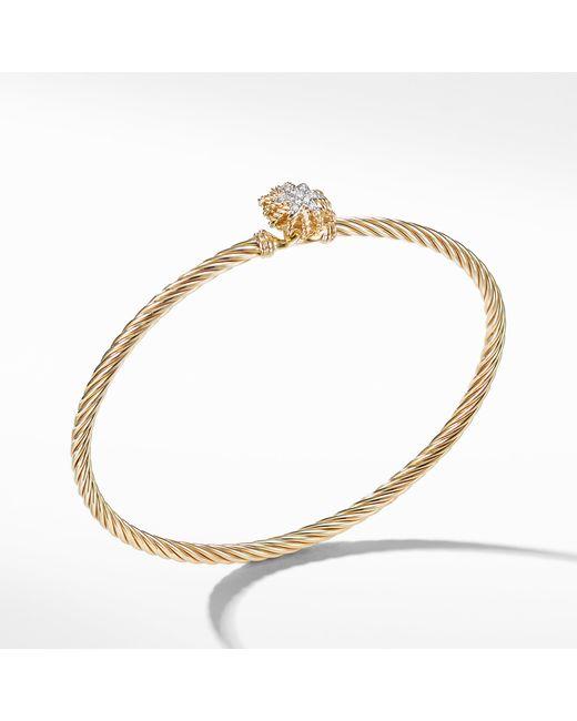 David Yurman - Metallic Starburst Bracelet With Diamonds In 18k Gold, 3mm - Lyst