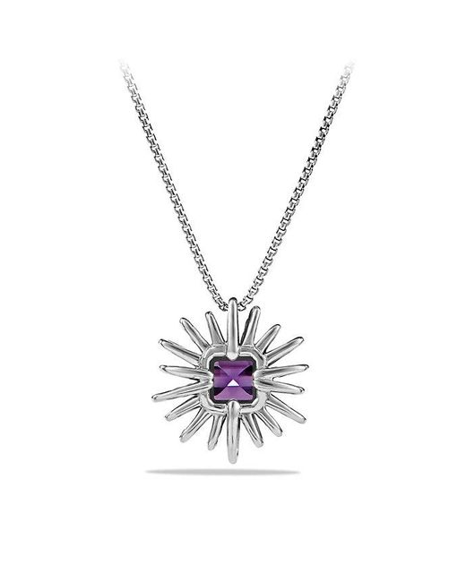 David Yurman | Purple Starburst Pendant Necklace With Amethyst And Diamonds, 23mm | Lyst
