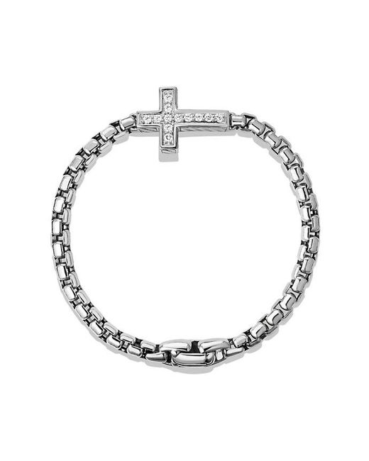 David Yurman - Metallic Pavé Cross Bracelet With Diamonds for Men - Lyst