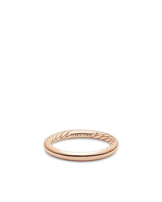 David Yurman - Pink Dy Eden Smooth Wedding Band In 18k Rose Gold, 2.5mm - Lyst