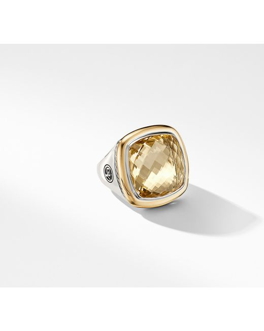 David Yurman - Metallic Albion® Statement Ring With 18k Gold And Champagne Citrine - Lyst