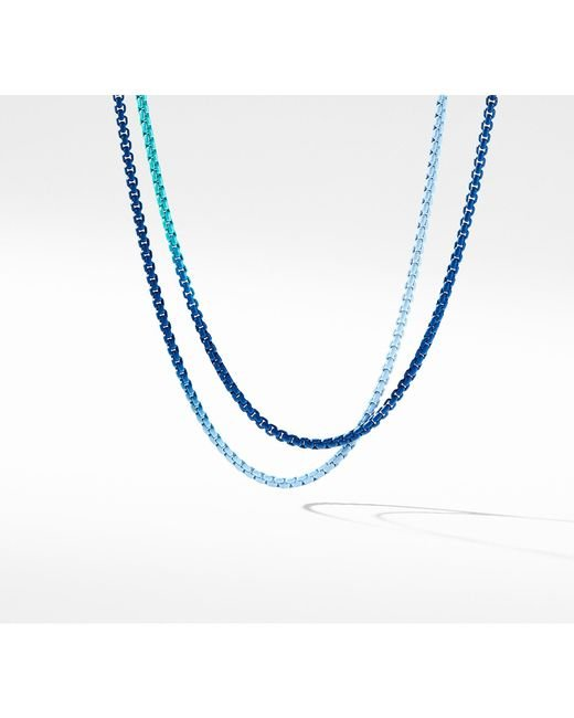 David Yurman - Dy Bel Aire Blue Ombre Chain Necklace With 14k Gold Accents - Lyst