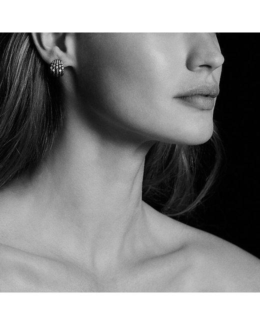 David Yurman | Metallic Tempo Earrings With Diamonds | Lyst