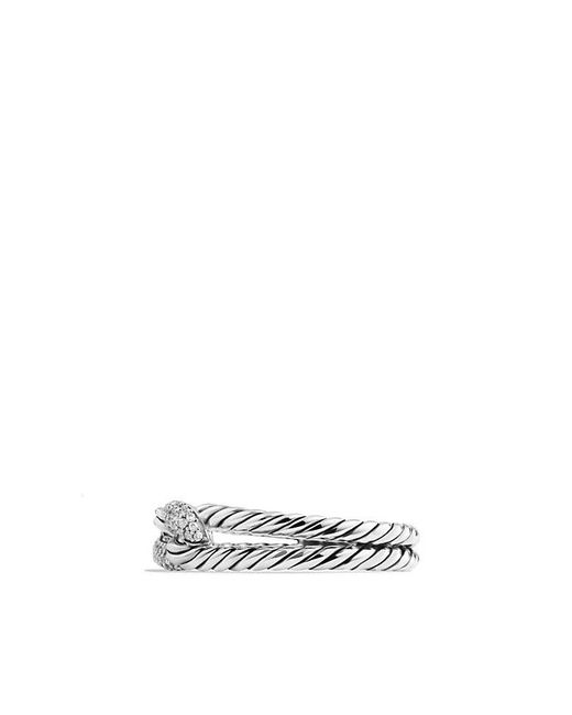 David Yurman - Metallic Petite Pavé Loop Ring With Diamonds - Lyst
