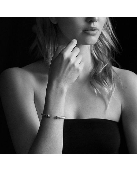 David Yurman | Metallic Cable Classic Bracelet With 14k Gold, 5mm | Lyst