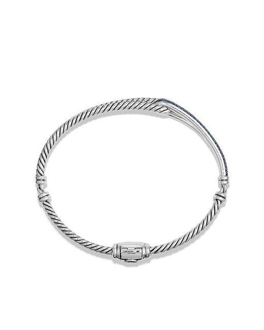 David Yurman | Petite Pavé Labyrinth Single-loop Bracelet With Blue Sapphires, 7mm | Lyst