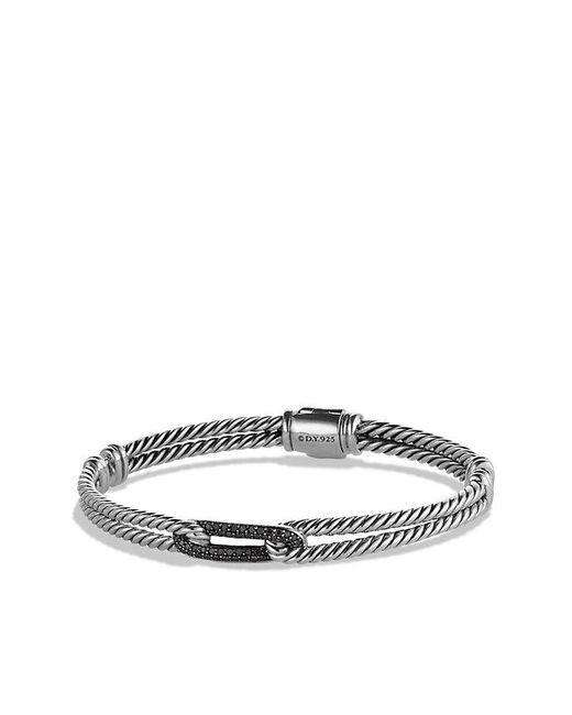 David Yurman | Petite Pavé Mini Loop Bracelet With Black Diamonds | Lyst