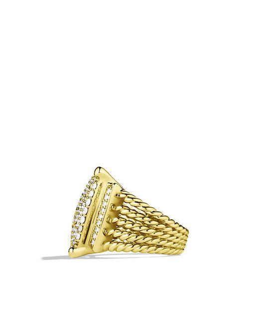 David Yurman | Metallic Wheaton Ring With Diamonds In 18k Gold | Lyst