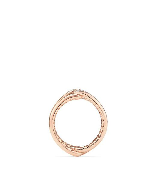 David Yurman - Multicolor Continuance® Band Ring With Diamonds In 18k Rose Gold, 6.5mm - Lyst