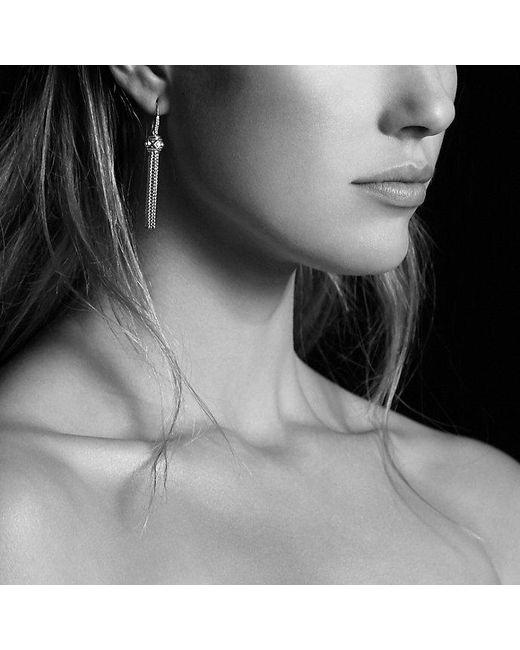 David Yurman   Metallic Renaissance Earrings With Diamonds In Silver   Lyst