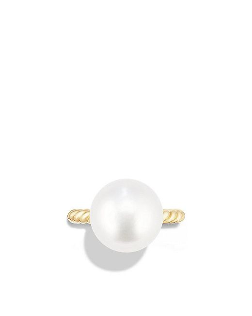 David Yurman | Metallic Solari Large Ring With Pearls In 18k Gold | Lyst