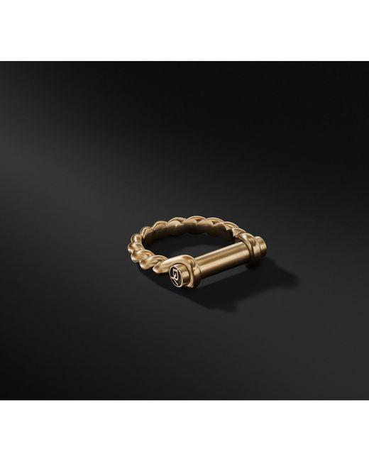 David Yurman - Black Maritime Shackle Ring In 18k Gold for Men - Lyst