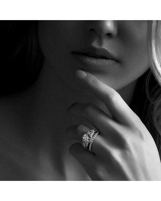 David Yurman | Metallic Dy Eden Single Row Wedding Band With Diamonds In Platinum, 2mm | Lyst