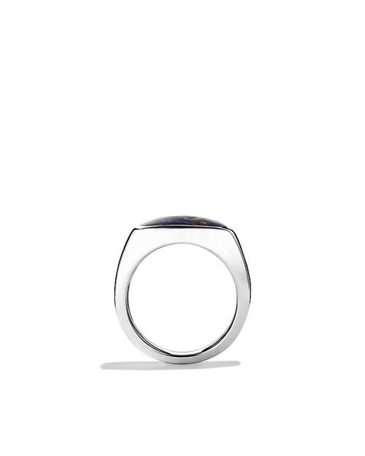 David Yurman - Metallic Exotic Stone Signet Ring With Pietersite for Men - Lyst