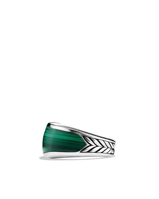 David Yurman | Metallic Exotic Stone Narrow Three-sided Ring With Malachite for Men | Lyst